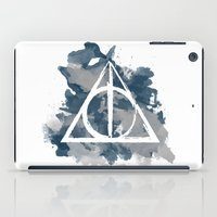 ravenclaw iPad Cases featuring The Deathly Hallows (Ravenclaw) by FictionTea