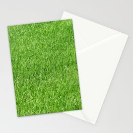 Green grass photo texture Stationery Cards