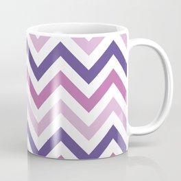 Chevron Pattern in Ultra Violet, Pink Lavender and Spring Crocus Coffee Mug