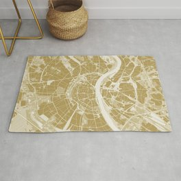 Cologne map gold Rug