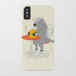 Honeybadger à Paris iPhone Case