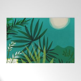 Tropical Moonlight / Tropical Night Series #1 Welcome Mat