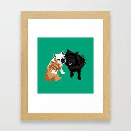 Bailey and Buddy Framed Art Print