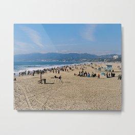 Santa Monica Beach in the Sunny Los Angeles Metal Print