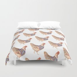Sophisticated Chicken Duvet Cover
