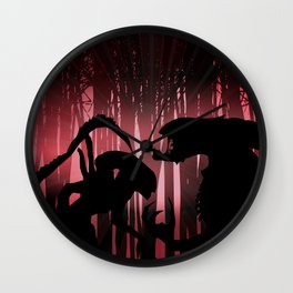 Forest Aliens Wall Clock