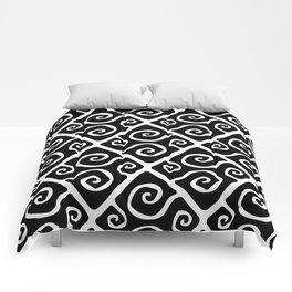 Diamond Pattern Black-White Comforters