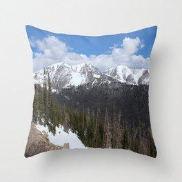 Rocky Mountain Scene Throw Pillow