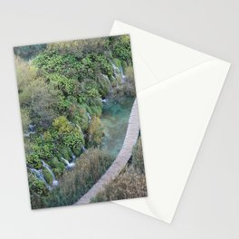 Plitvice National Park Boardwalk Croatia Stationery Cards