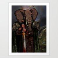 Ganesha of Thrones Art Print