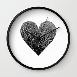 BLACK HEART Wall Clock