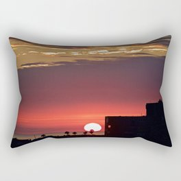 Modern Glowing Sunset Over Newport Beach CA Rectangular Pillow