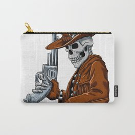 Skull cowboy.Skeleton Carry-All Pouch