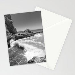 Waves crash along Rancho Palos Verdes coastline Stationery Cards