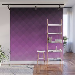 Ombre squares - Purple Wall Mural