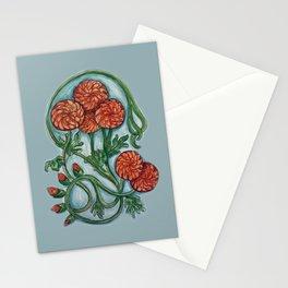 Art Nouveau Chrysanthemum  Stationery Cards