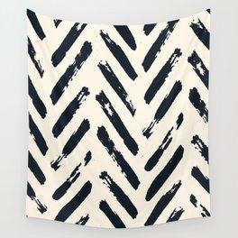 Retro Chevron Pattern 02 Wall Tapestry