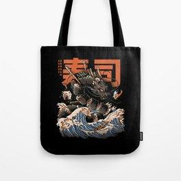 The Black Sushi Dragon Tote Bag