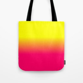 Neon Pink and Neon Yellow Ombré Shade Color Fade Tote Bag