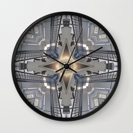 Structure of Stairs Wall Clock