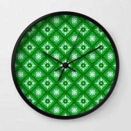 Green Geometric Wall Clock