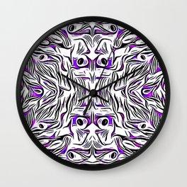 Purple Peacock LOVE Wall Clock