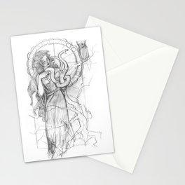 athena doesn't like gorgons Stationery Cards