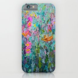 Mid July Meadow Flowers - #2 Painting by Olena Art iPhone Case