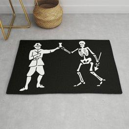 Bartholomew Roberts Pirate Flag Jolly Roger Skeleton Rug