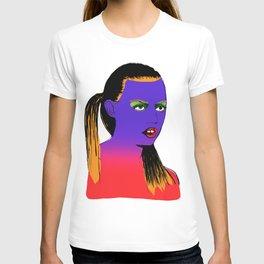 gap tooth model T-shirt