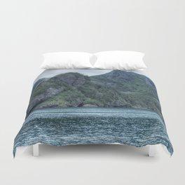 Glacier-Made Landscape Duvet Cover