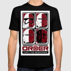 The First Order Black Mens Fitted Tee LARGE
