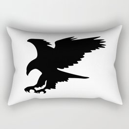 Majestic Eagle in Flight Silhouette Rectangular Pillow