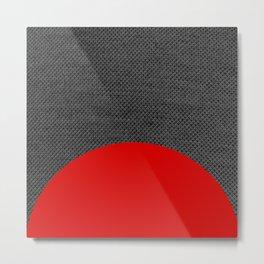 Is it Portable? No. 07 / Red Denim Metal Print