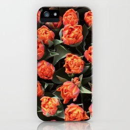 Tulips on fire iPhone Case