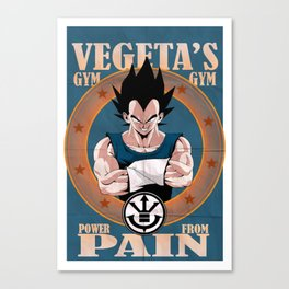 Vegeta's gym, power from pain ! Canvas Print