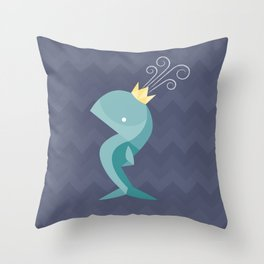 Prince of Whales Throw Pillow