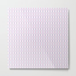 Pink & Blue Tangled Lines Pattern Metal Print