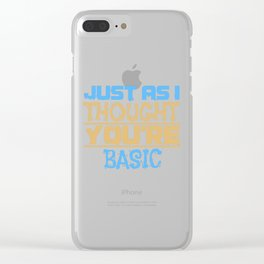 Simply Structured Research Sarcasm Gift Clear iPhone Case