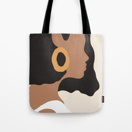 Lovely girl - Muted palette - Modern abstract hand drawn art Tote Bag