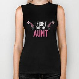 Breast Cancer Awareness Art For Warrior Women Dark Biker Tank