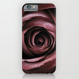 Decorative Red Rose Floral iPhone Case