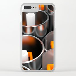 Metal tubes, hexagons and glass Clear iPhone Case