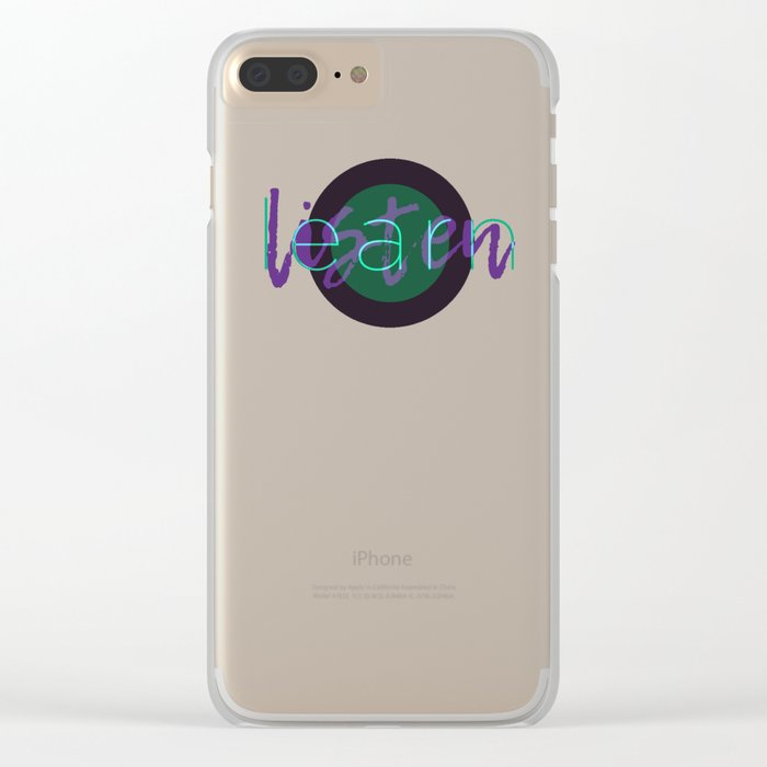 Learn / Listen Clear iPhone Case