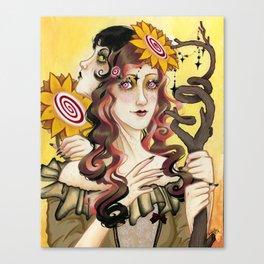 Queen of Wands Canvas Print