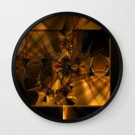GoldBurst Wall Clock