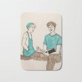 Adam and Opal reading Bath Mat