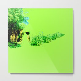Just a little green Metal Print