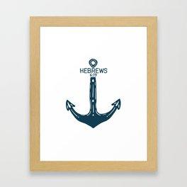 Hebrews Anchor Framed Art Print