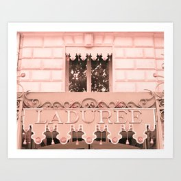 Paris in Blush Pink IV Art Print